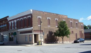 This is the old Knox theater and Starke County Economic Development Foundation location