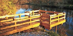 The Bill and Sandy Goble family donated money to build this overlook at Tippecanoe River State Park.