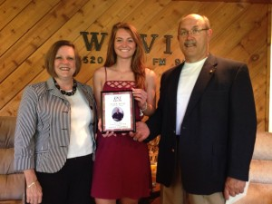 Athlete of the Year Ashley Campbell with Tim and Melinda Roth