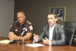 Starke County Sheriff's Deputy Bill Dulin and Prosecutor Nick Bourff speak to the media about the June 8, 2014 carjacking and ensuing pursuit.