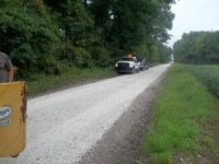 Starke County Highway Department crews are busy this week re-stoning gravel roads.