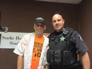 WKVI's Tom Berg and Frank Thomas from the North Judson Police Department.