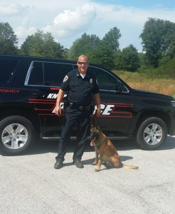 Knox Police Department K-9 Officer Chad Dulin recently received a promotion