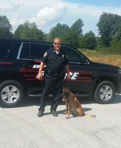 Knox Police Department Officer Chad Dulin and K-9 O'Neill