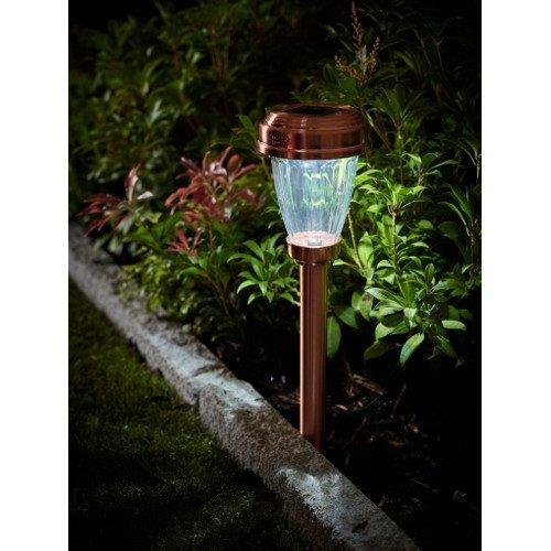 solar copper marker light whilton locks garden village