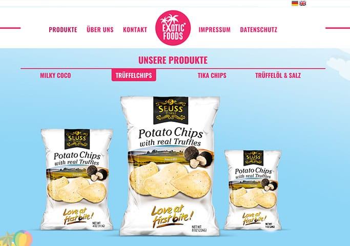 Exoticfoods – Website