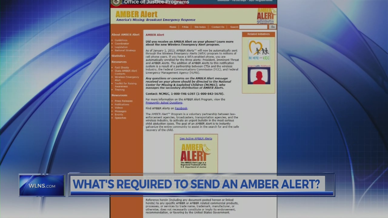 AMBER Alert: What's required to send one?