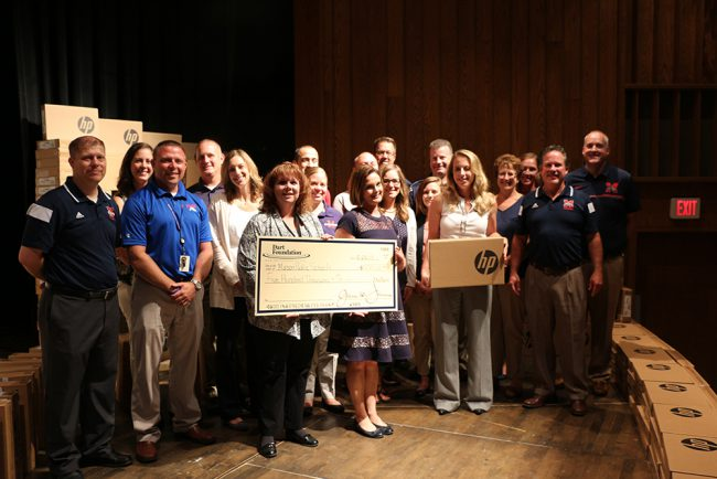 Dart and MPS Foundations Present Check to Mason Public Schools_305157