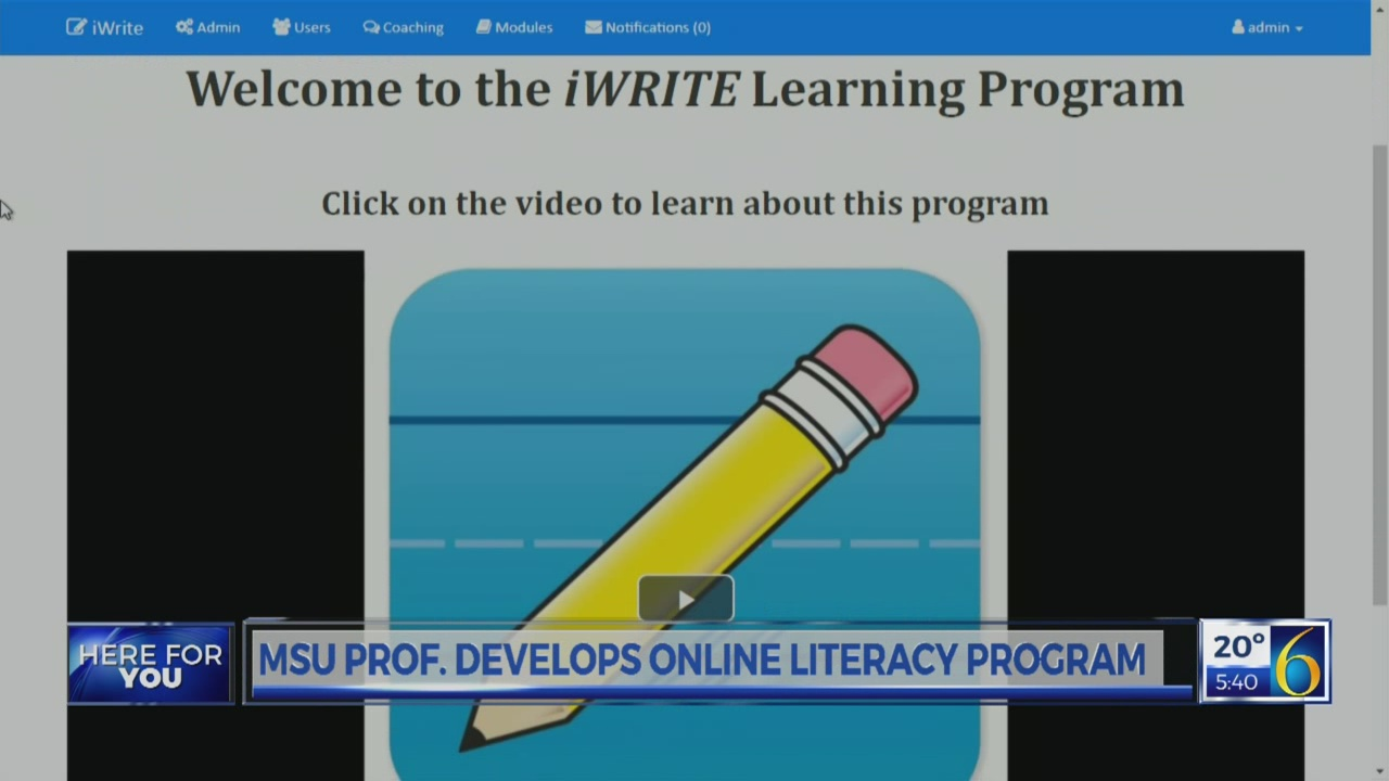 MSU prof creates literacy program