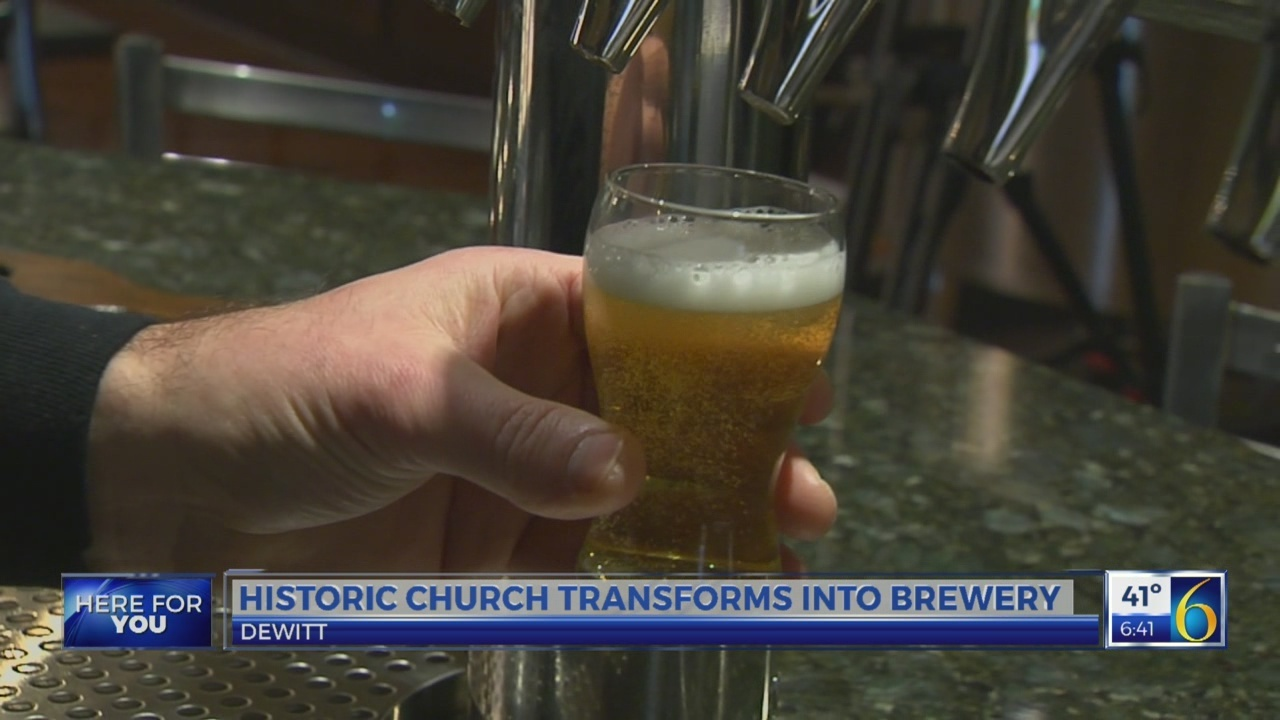 Historic church turned brewery in DeWitt