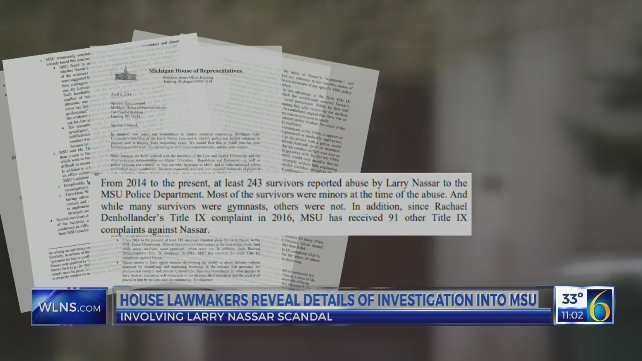 House lawmakers reveal details of investigation into MSU