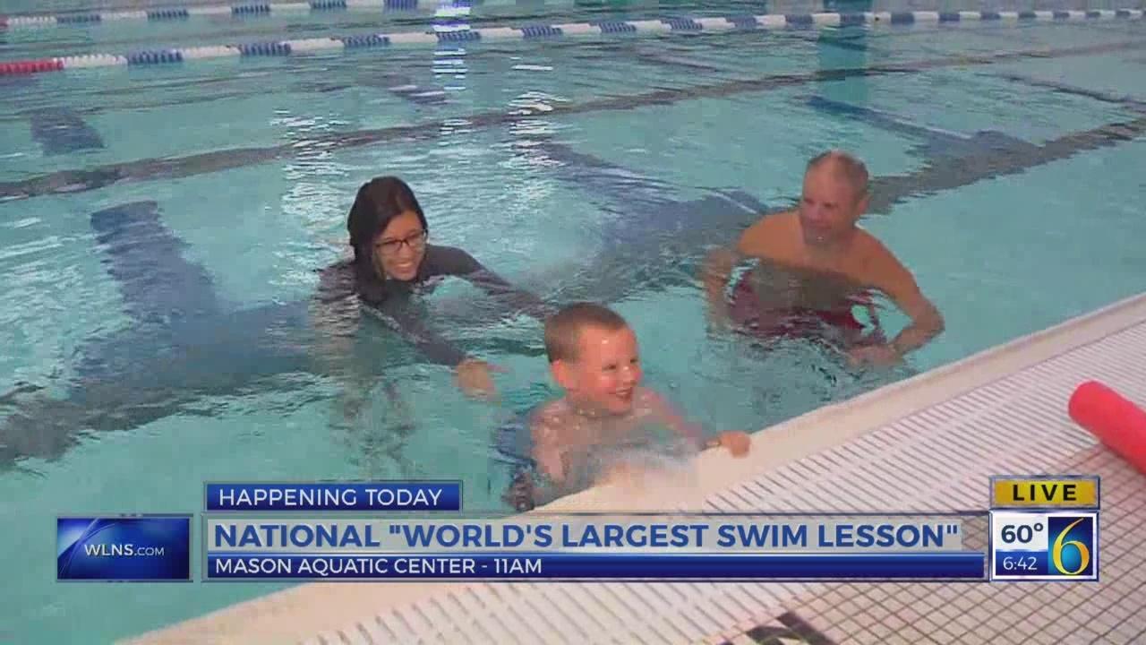6 News This Morning: largest swim lesson