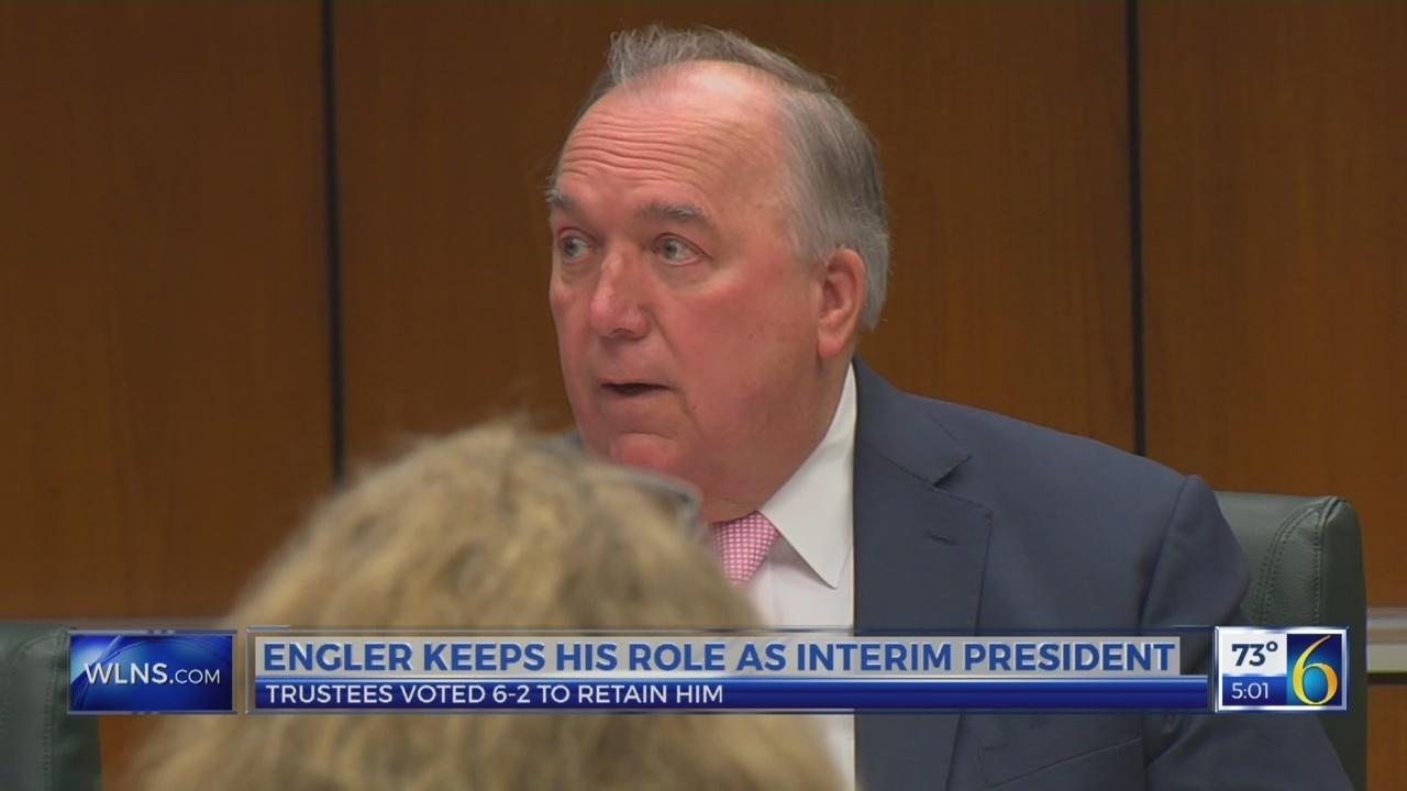 Engler Remains Interim President