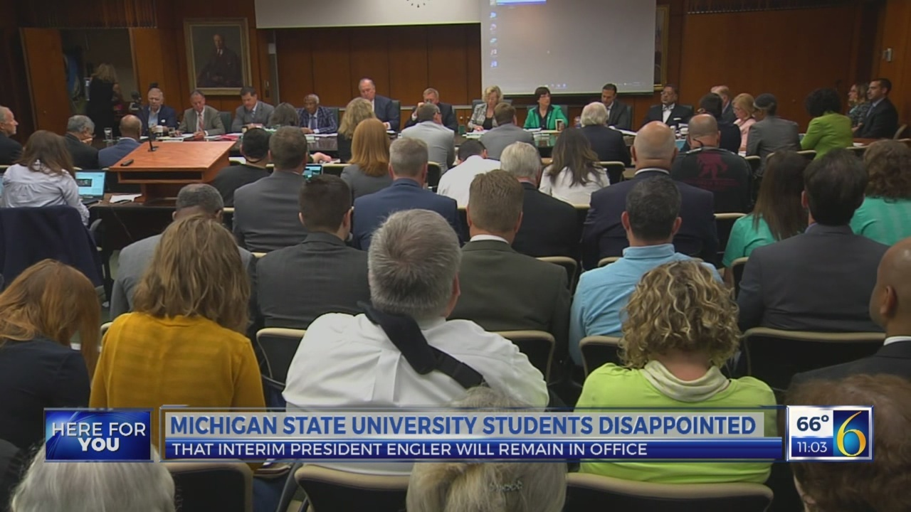 MSU students disappointed about trustee meeting