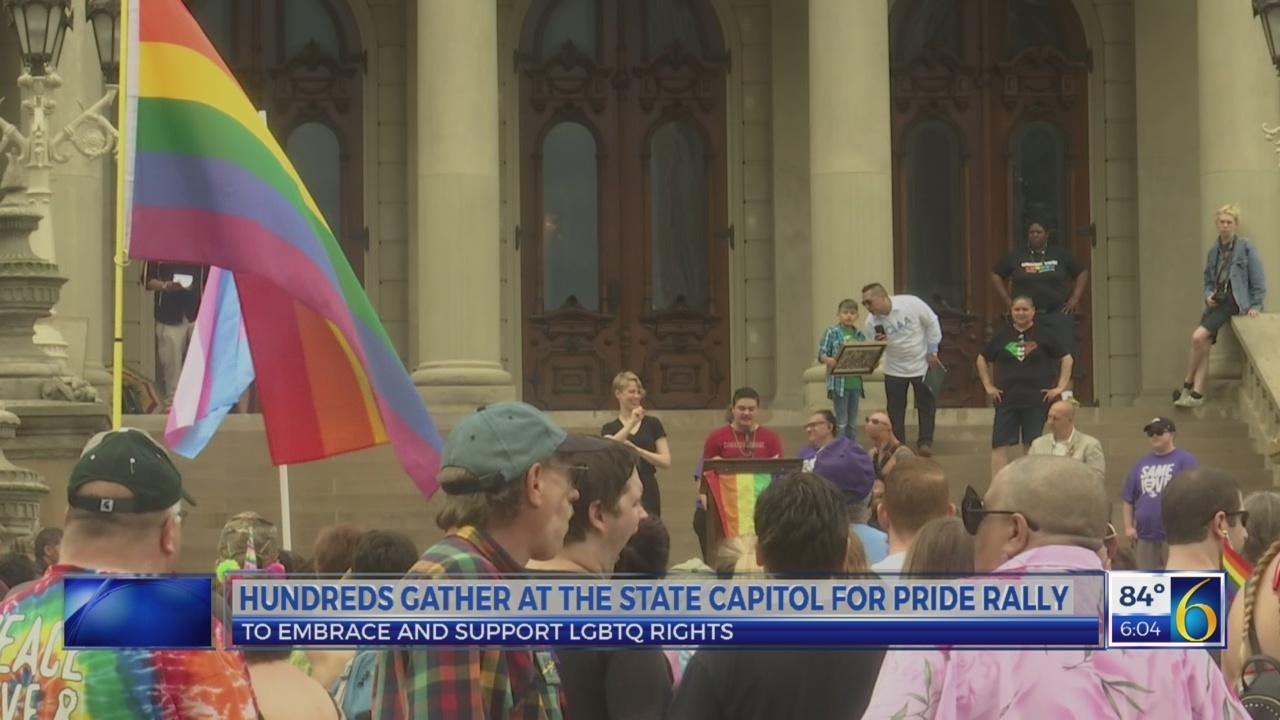 Pride rally at the Capitol