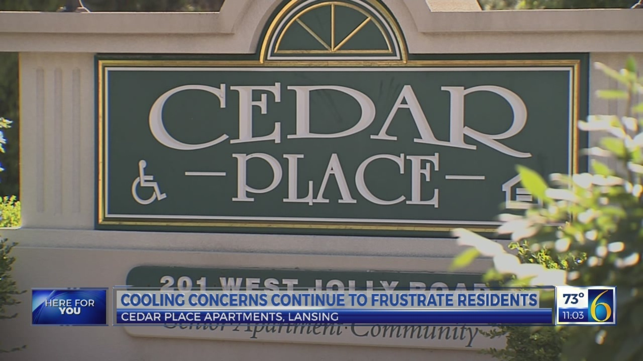 Cooling concerns at Cedar Place Apartments continue to frustrate residents