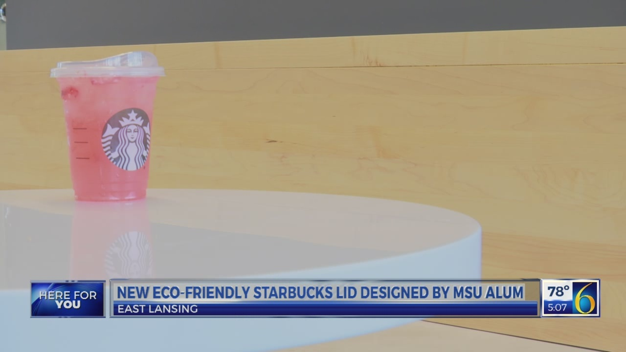 New eco-friendly Starbucks lid designed by MSU Alum