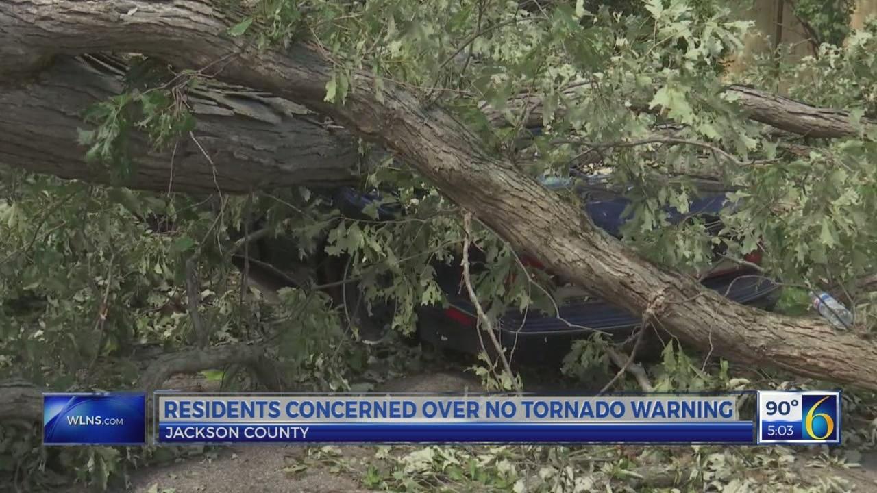 Jackson residents concerned over no tornado warning