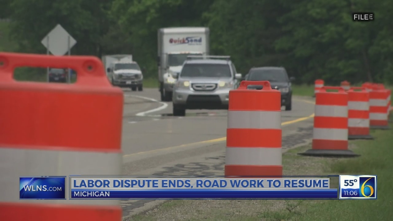 Labor dispute ends, road work to resume