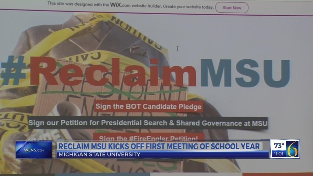 Reclaim MSU kicks off first meeting of school year