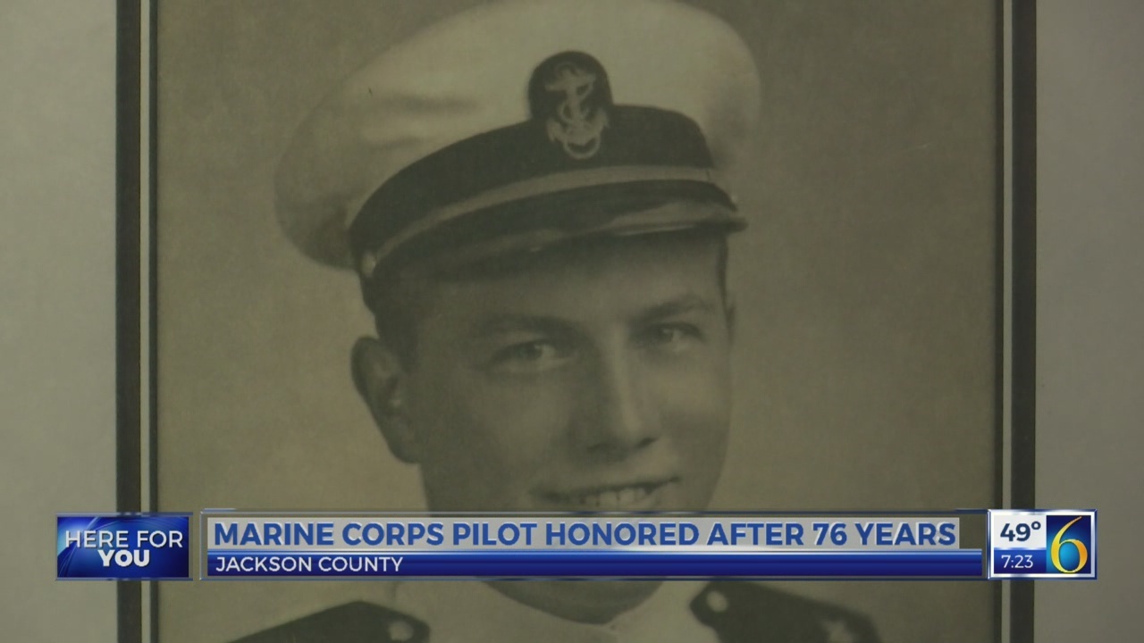 Marine Corps pilot honored after 76 years