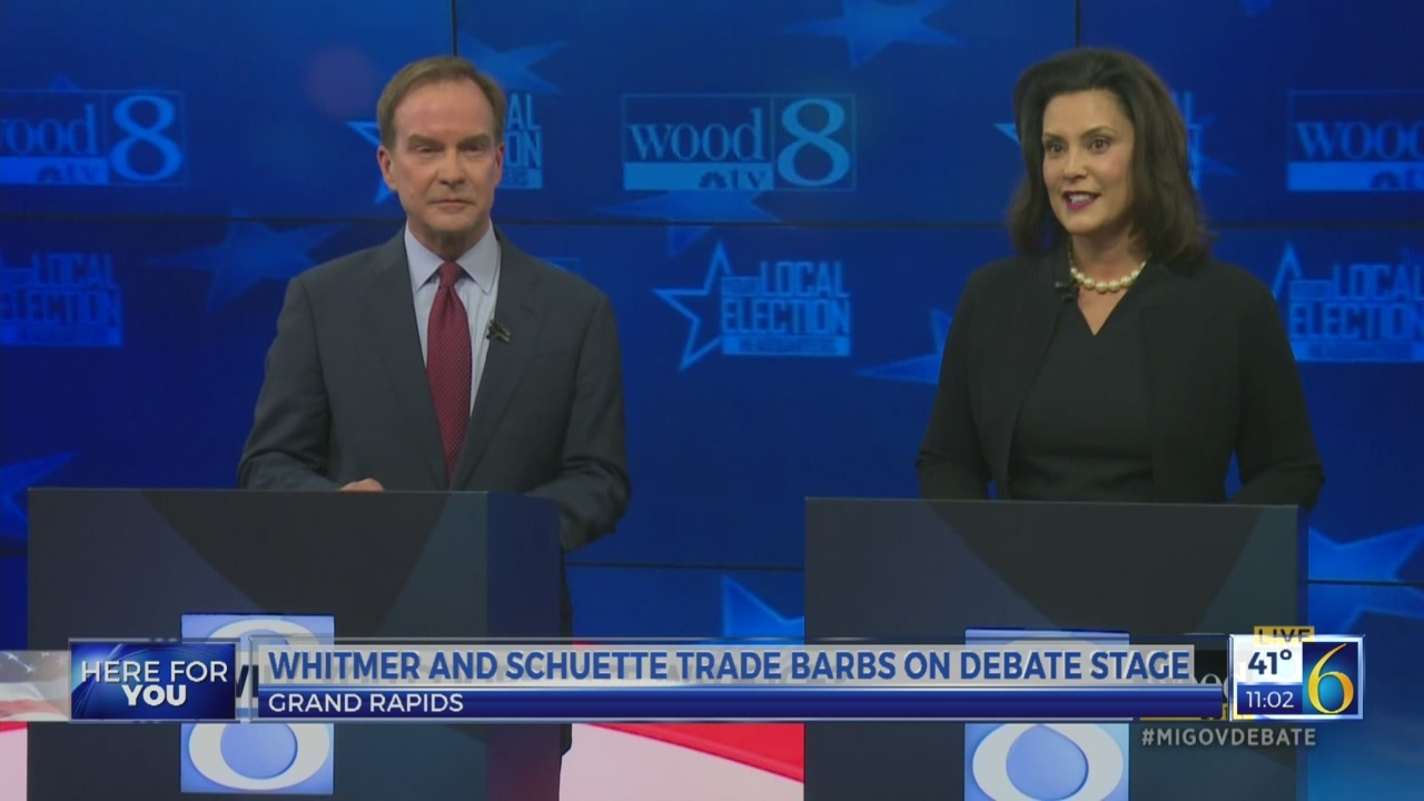 Whitmer and Schuette trade barbs on debate stage
