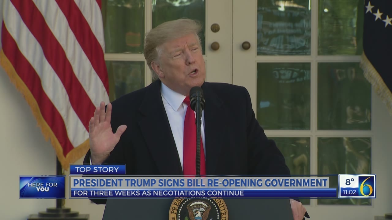 President Trump re-opens government