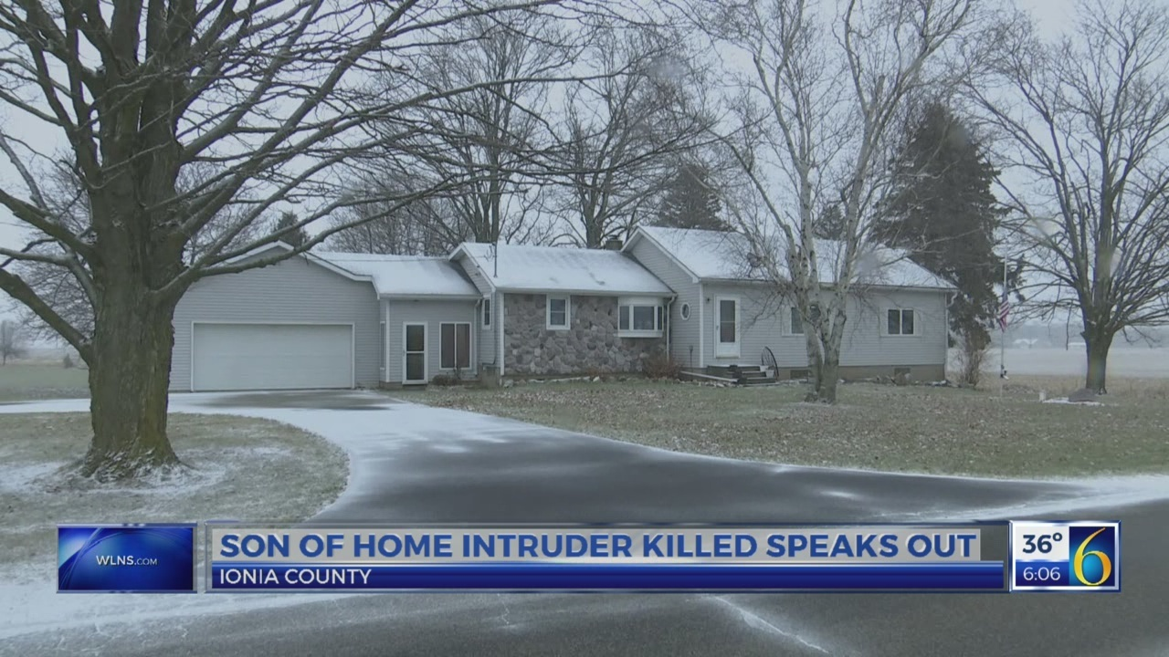 Son of home intruder killed speaks out
