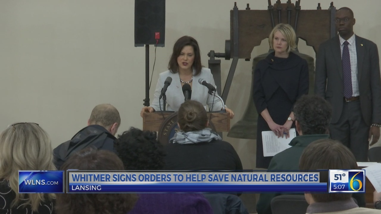Gov. Whitmer signs orders to help save the state's natural resources