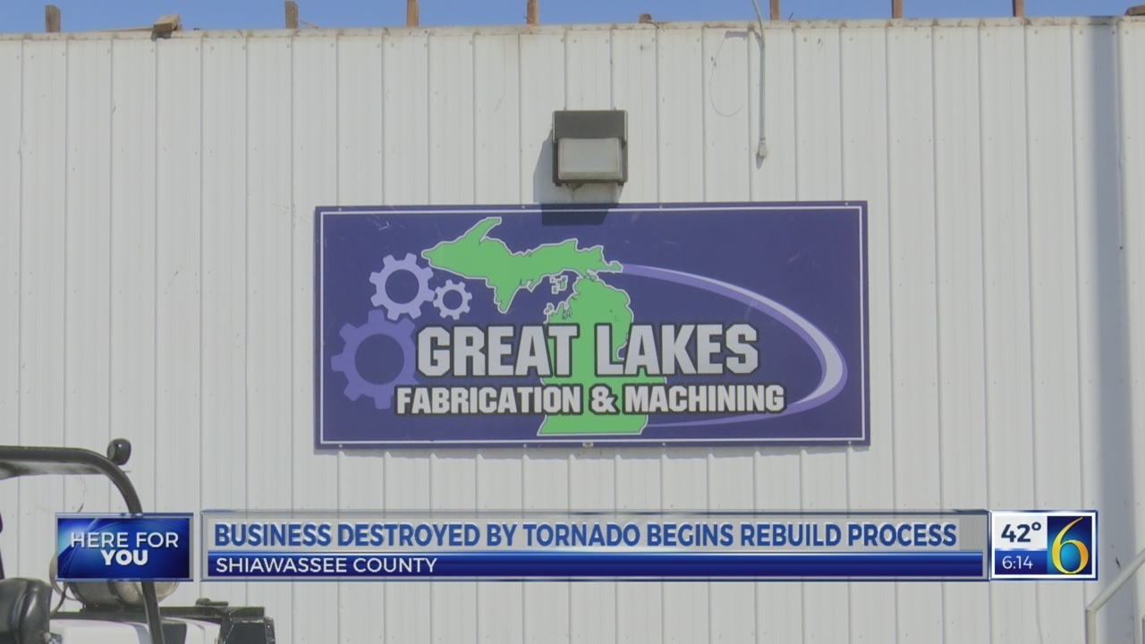 Business starts rebuilding process after tornado destruction