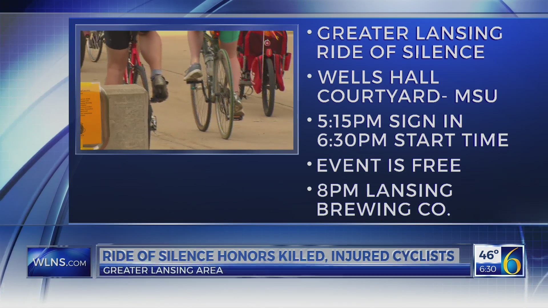 This Morning: ride of silence
