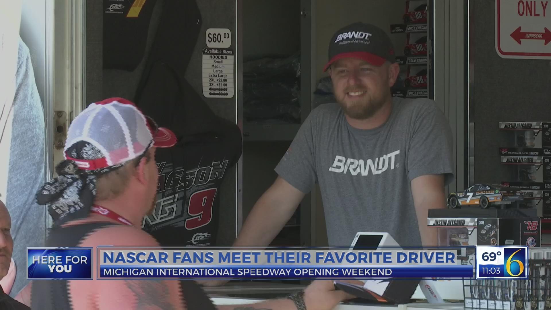 NASCAR fans get to meet star driver
