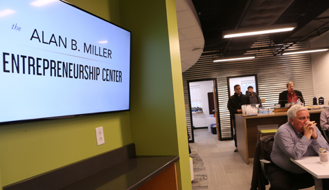 This university hub will be supported by the existing Alan B. Miller Entrepreneurship Center at the Raymond A. Mason School of Business. (Photo by Stephen Salpukas)
