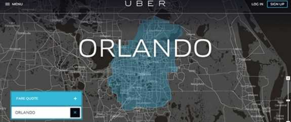 The car service, Uber, expanded to Orlando in June. City council will consider a proposal to raise fare. Photo: Uber.