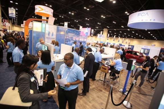 Nearly half of the attendees at the National Black MBA Association's annual career expo are not black. Photo: NBMBAA.