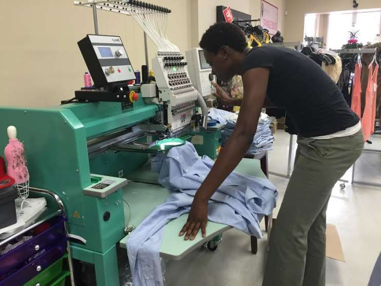 Design House of Colour opened six months ago in a small business corridor in Orlando's Parramore neighborhood. Photo: Renata Sago, WMFE.
