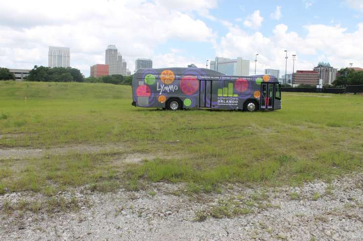 Lynx runs a free downtown Orlando bus service called Lymmo. Photo: Matthew Peddie, WMFE