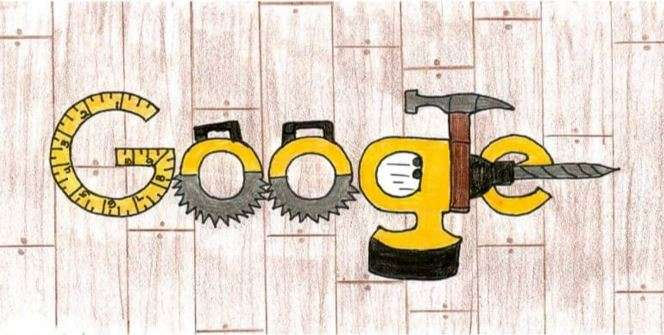 Landen Slater's entry in the Doodle4Google competition. Image courtesy of Google.