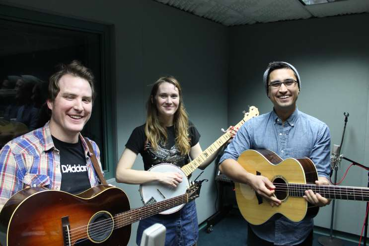 Matthew Tonner, Laney Jones and Tre Hester of Laney Jones and the Spirits. Photo: Matthew Peddie, WMFE
