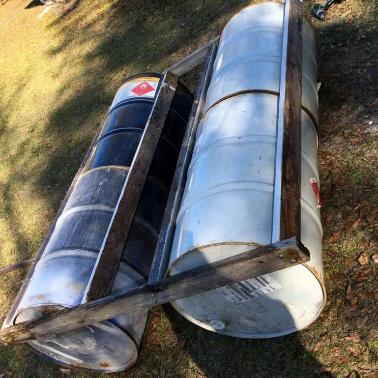 Clint Johnson's prototype raft. Photo courtesy of Clint Johnson
