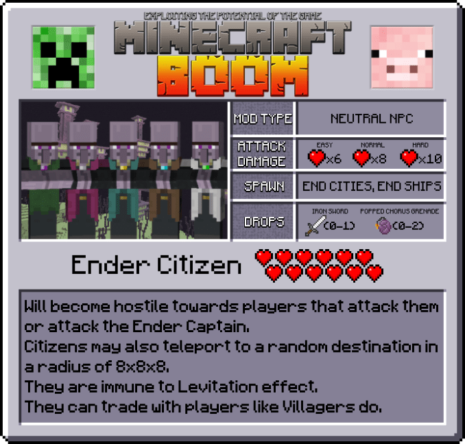 Minecraft Boom Mod Features 1