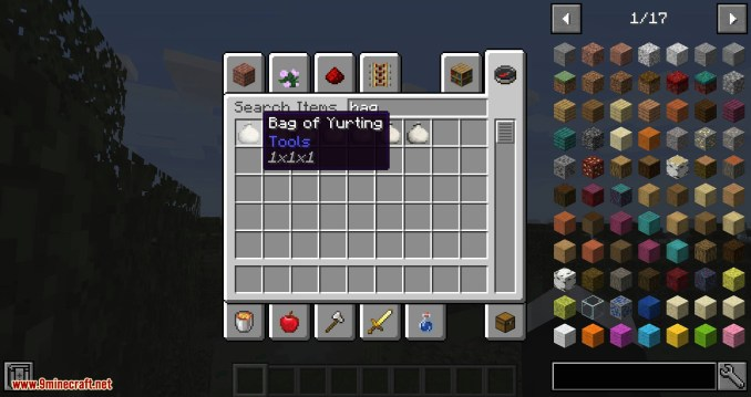 Bag of Yurting mod for minecraft 01