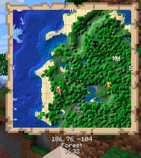 Just Map mod for minecraft 21