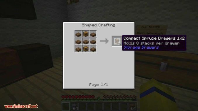 Storage Drawers Mod Crafting Recipes 2
