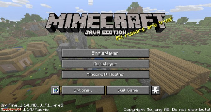 Optifabric mod for minecraft 01