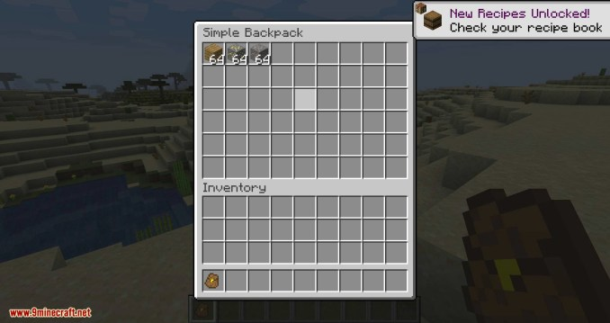 Simple Backpack mod for minecraft 03
