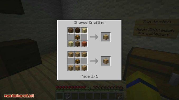 Storage Drawers Mod Crafting Recipes 1