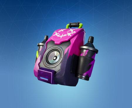 Fortnite Purple Jam Back Bling - Full list of cosmetics : Fortnite Aerosol Assassins Set | Fortnite skins.