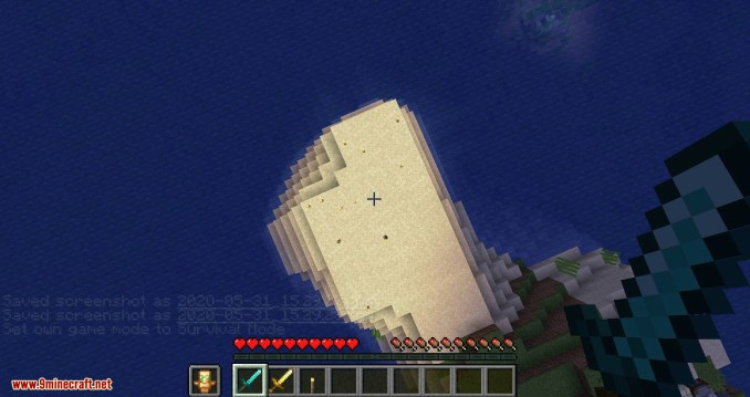 Hide Hands mod for minecraft 12