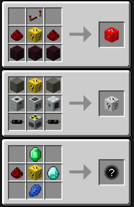 Lucky Block Mod Crafting Recipes 4